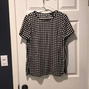 J. Crew windowpane blouse size 4